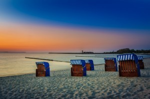 Sonnuntergang - Von unseren Ferienwohnungen in Glowe erreichen Sie den Strand in nur wenigen Minuten.