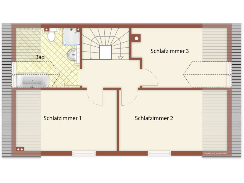 DG Grundriss des Ferienhauses