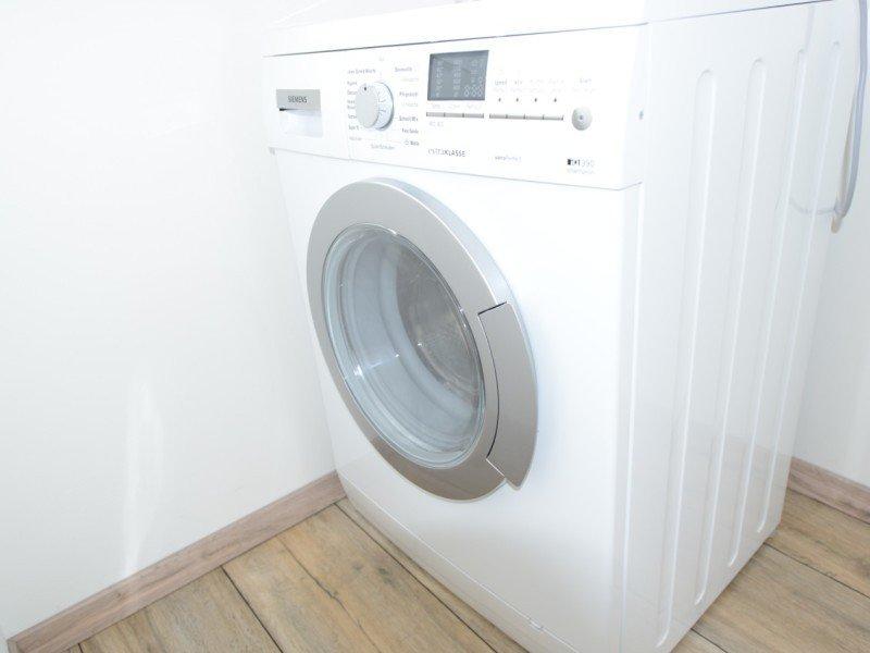 Jede Ferienwohnung verfügt über eine eigene Waschmaschine