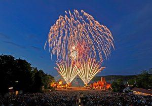 Piraten-Feuerwerk über Ralswiek auf Rügen