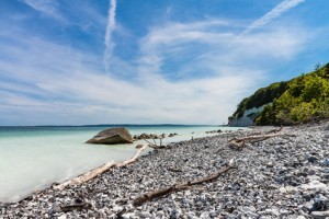 Die Kreidefelsen auf der Insel Rügen